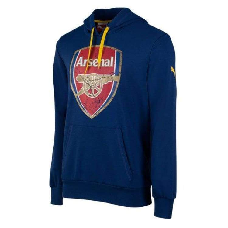 Hoodies & Sweaters: Puma Arsenal 14/15 Fans Hoodie (Blue) 746479-03 - Puma / Xs / Navy / 1415 Arsenal Clothing Fans Wear Football |