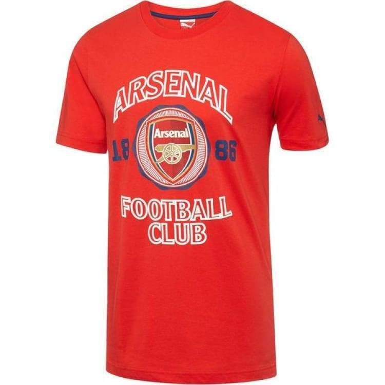 Tees / Short Sleeve: Puma Arsenal 14/15 Graphic Tee 746945-01 - Puma / Xs / Red / 1415 Arsenal Clothing Fans Wear Football |