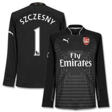 Jerseys / Soccer: Puma Arsenal 14/15 (H) Gk L/s Jersey 746377-29 - 1415 Arsenal Black Clothing Football