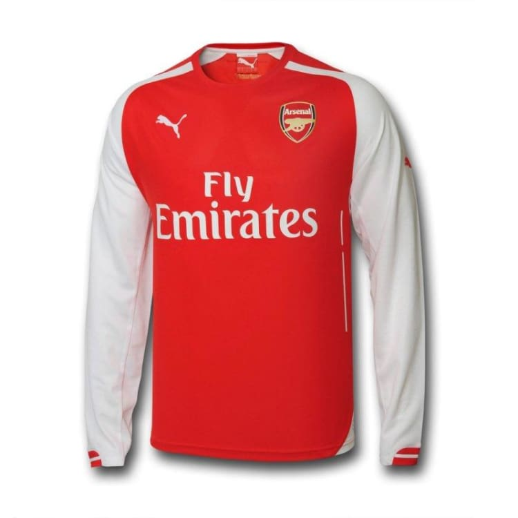 Jerseys / Soccer: Puma Arsenal 14/15 (H) L/S 746448-01 - Puma / M / Red / 1415 ARSENAL Clothing Football Home Kit | OCHK-SFALO-LSENG09140H-M