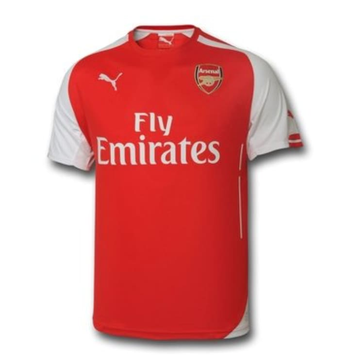 Jerseys / Soccer: Puma Arsenal 14/15 (H) S/S 746446-01 - Puma / XS / Red / 1415 ARSENAL Clothing Football Home Kit | OCHK-SFALO-746446-01