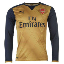Jerseys / Soccer: Puma Arsenal 15/16 (A) L/s Jersey 747569-08 - Puma / Xs / Gold / 1516 Arsenal Away Kit Clothing Football |