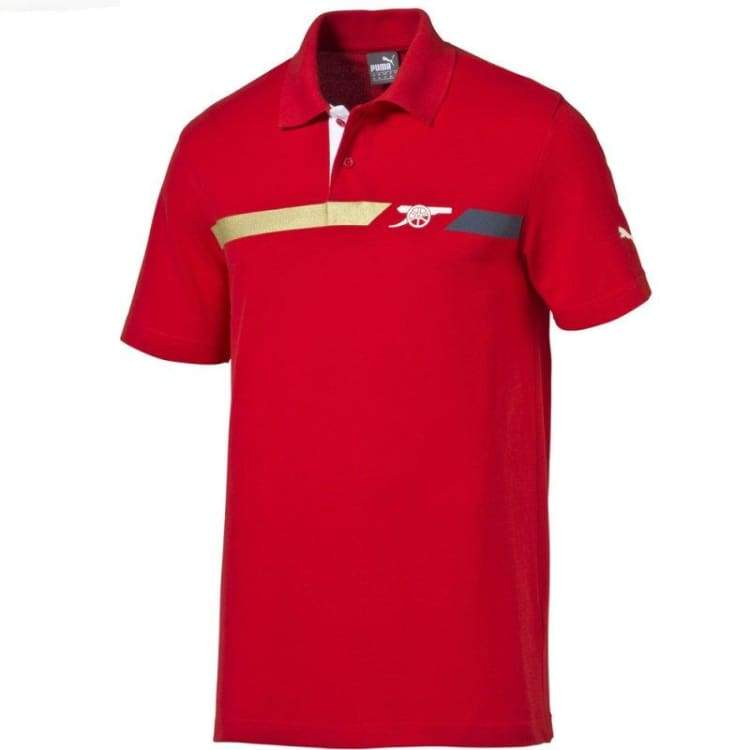 Polos / Short Sleeve: Puma Arsenal 15/16 Fan Polo Rd 747489-01 - Puma / Xs / Red / 1516 Arsenal Clothing Fans Wear Football |