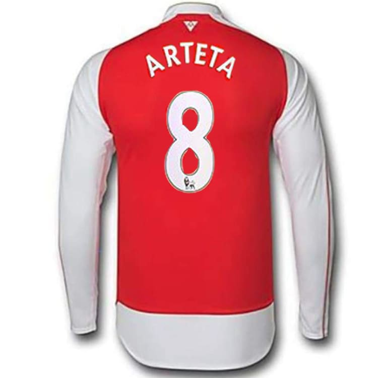Jerseys / Soccer: Puma Arsenal 15/16 (H) L/S Jersey 747567-01 #8 ARTETA - Puma / M / Red / 1516, ARSENAL, Clothing, Football, Home Kit |