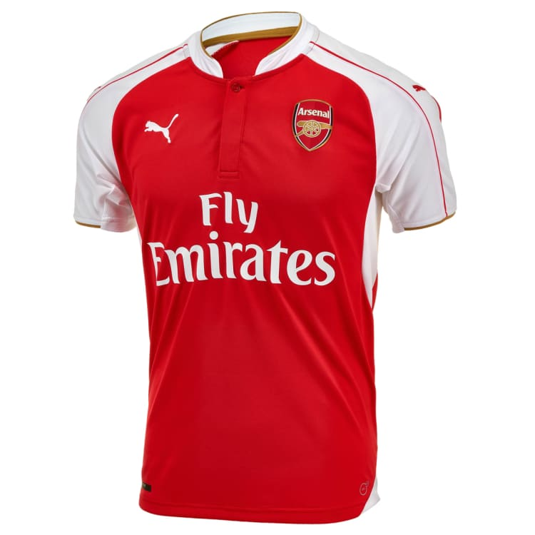 Jerseys / Soccer: Puma Arsenal 15/16 (H) S/S Kids 747573-01 - Puma / Kids: 140 / Red / 1516 ARSENAL Clothing Football Home Kit |