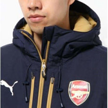 Jackets / Track: Puma Arsenal 15/16 Long Bench Jacket Bk 747633-02 - 1516 Arsenal Clothing Football Jackets