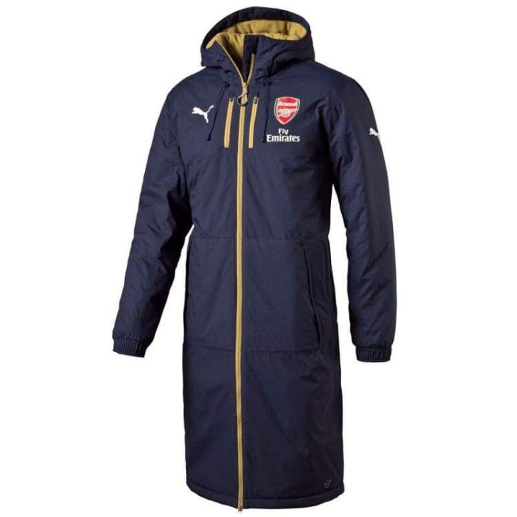 Jackets / Track: Puma Arsenal 15/16 Long Bench Jacket Bk 747633-02 - Puma / Xs / Navy / 1516 Arsenal Clothing Football Jackets |