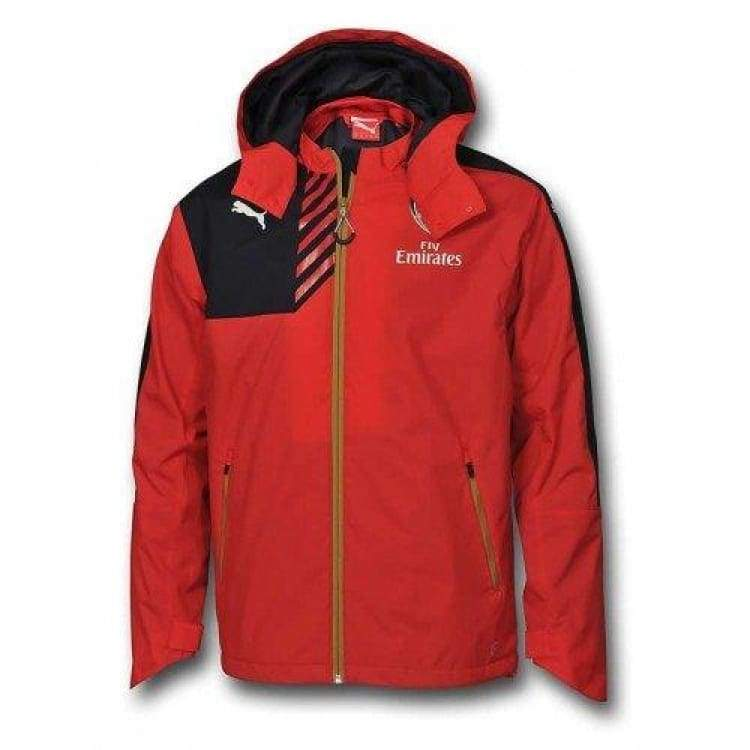 Jackets / Rain: Puma Arsenal 15/16 Rain Jacket 747630-01 - Puma / Xs / Red / 1516 Arsenal Clothing Football Jackets |