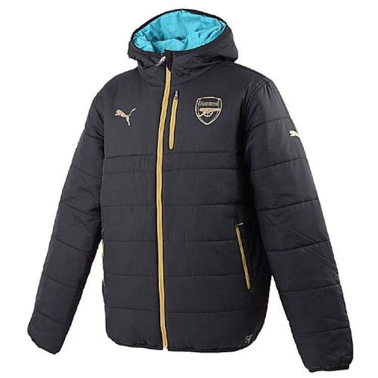 Jackets / Track: Puma Arsenal 15/16 Reversible Soccer Jacket 747601-04 - Puma / Xs / Black / 1516 Arsenal Black Clothing Football |