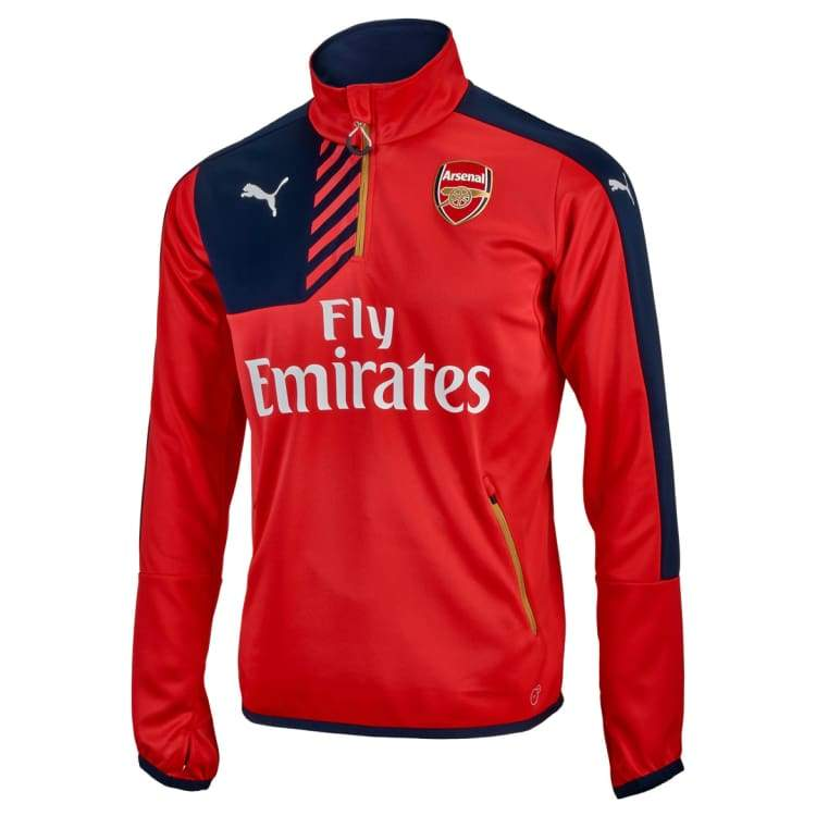 Tops / Warm Up: Puma Arsenal 15/16 Training Zip Top 748798-01 - Puma / Xs / Red / 1516 Arsenal Clothing Football Land |