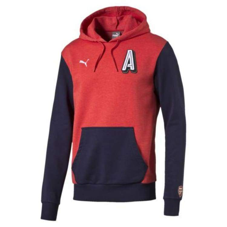Hoodies & Sweaters: Puma Arsenal 16/17 Big A Hoodiered 750458-06 - Puma / Xs / Red / 1617 Arsenal Clothing Fans Wear Football |