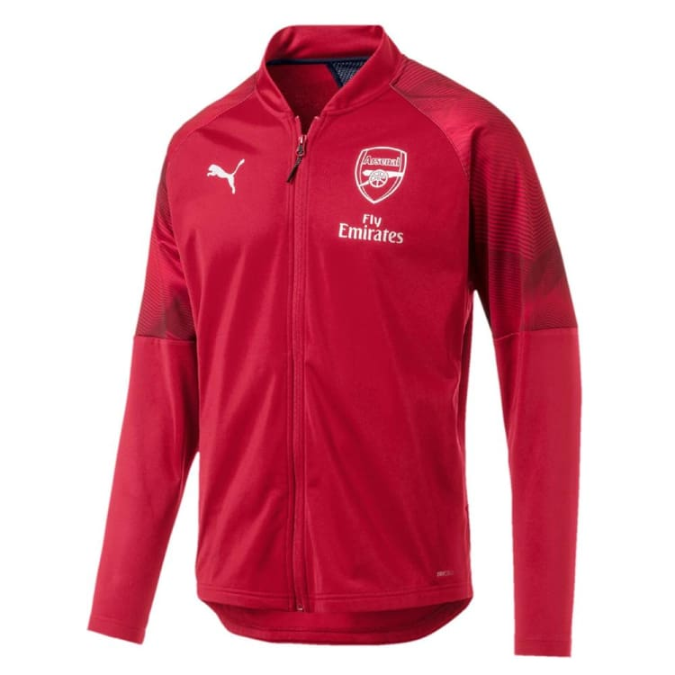 Jackets / Track: Puma Arsenal FC 2018 Stadium Jacket 754629-01 - XS / Red / Puma / 2018 ARSENAL Clothing Fans Wear Football |