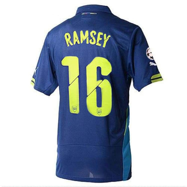 Jerseys / Soccer: Puma Arsenal Shirt 14/15 (3RD) S/S 746452-04 #16 RAMSEY with Club Nameset and Badge - Puma / S / Blue / 1415, ARSENAL,