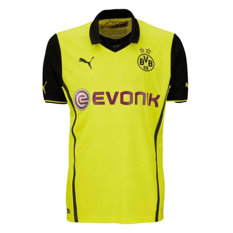 Jerseys / Soccer: Puma Bvb 13/14 (H) Cl S/s Jersey 743552-01 - Puma / S / Yellow / 1314 Borussia Dortmund Bvb Clothing Football |
