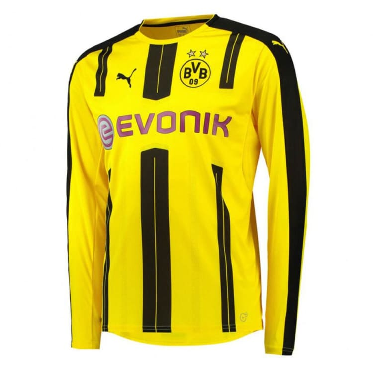 Jerseys / Soccer: Puma Bvb 16/17 (H) L/s Kids 749829-01 - Puma / Kids: 128 / Yellow / 1617 Borussia Dortmund Bvb Clothing Football |