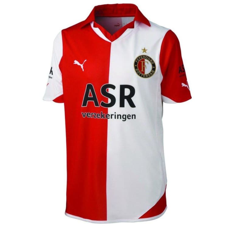 Jerseys / Soccer: Puma Feyenoord 10/11 (H) S/s - Puma / S / Red/white / Clothing Feyenoord Football Jerseys Jerseys / Soccer |