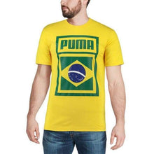 Tees / Short Sleeve: Puma Forever Football Country Cotton Tee Brazil 752649-09 - 2018 Fifa World Cup 2018 World Cup Brazil Brazil (World