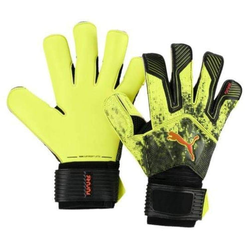 Gloves & Mittens / Soccer: Puma Future Grip 18.4 041446-01 - Puma / 7 / Yellow / Accessories Gloves Gloves & Mittens Gloves & Mittens /