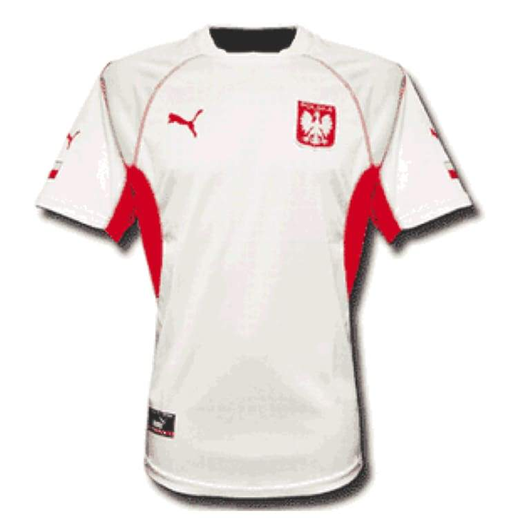Jerseys / Soccer: Puma National Team 2002 Poland (Home) S/s Jersey - Puma / S / White / 2002 Clothing Football Home Kit Jerseys |