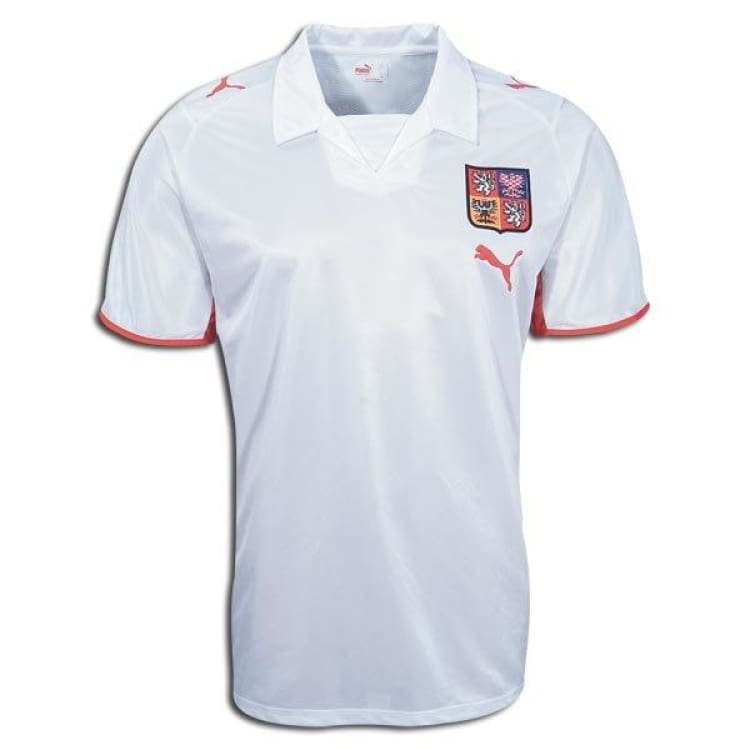 Jerseys / Soccer: Puma National Team 2008 Czech Republic (A) S/s - Puma / S / White / 2008 Away Kit Clothing Czech Republic Football |