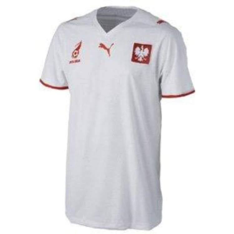 Jerseys / Soccer: Puma National Team 2008 Poland (H) S/s - Puma / S / White / 2008 Clothing Football Home Kit Jersey |