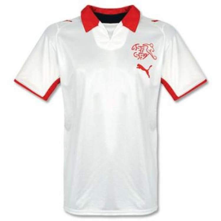 Jerseys / Soccer: Puma National Team 2008 Switzerland (A) S/s Jersey - Puma / S / White / 2008 Away Kit Clothing Football Jerseys |