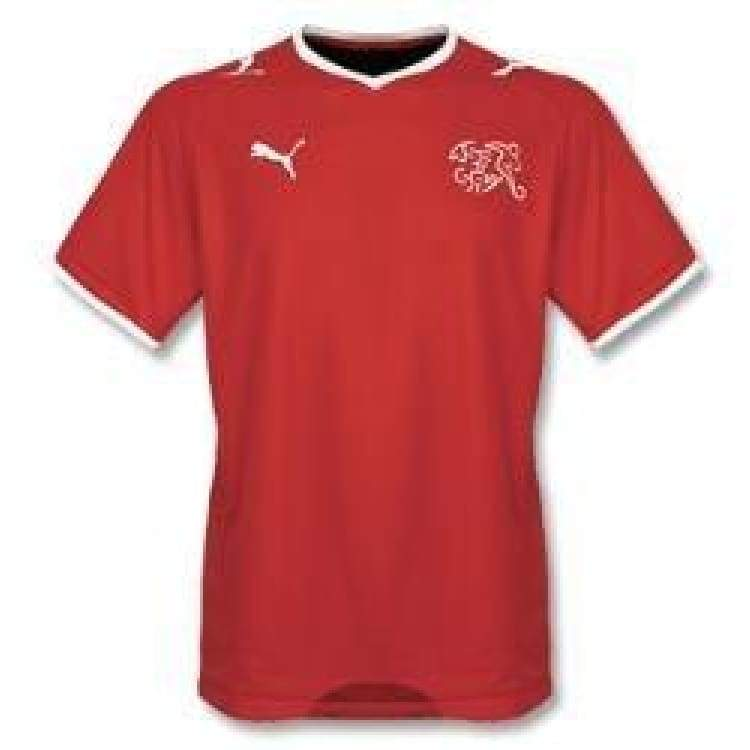 Jerseys / Soccer: Puma National Team 2008 Switzerland (H) S/s - Puma / S / Red / 2008 Clothing Football Home Kit Jersey |