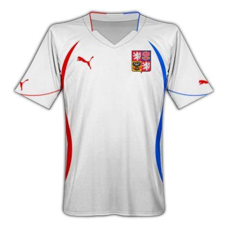 Jerseys / Soccer: Puma National Team 2010 Czech Republic (Away) S/s Jersey - Puma / 2Xl / White / 2010 Away Kit Clothing Czech Republic