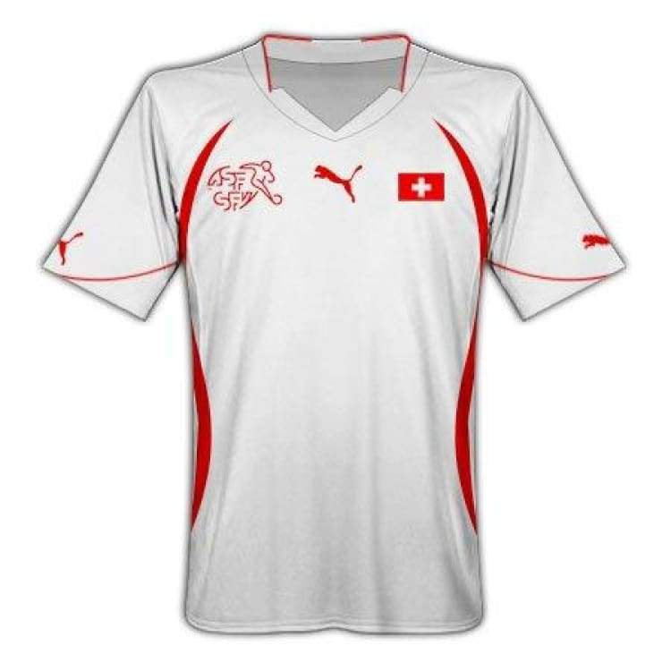 Jerseys / Soccer: Puma National Team 2010 Switzerland (A) S/s Jersey - Puma / S / White / 2010 Away Kit Clothing Football Jerseys |