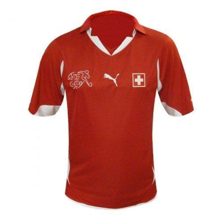 Jerseys / Soccer: Puma National Team 2010 Switzerland (H) S/s Jersey - Puma / S / Red / 2010 Clothing Football Home Kit Jerseys |