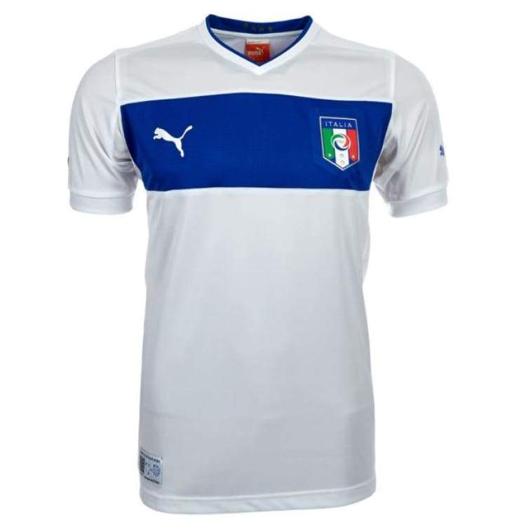 Jerseys / Soccer: Puma National Team 2012 Italy (A) S/s Jersey - Puma / Xs / White / 2012 Away Kit Clothing Football Italy |