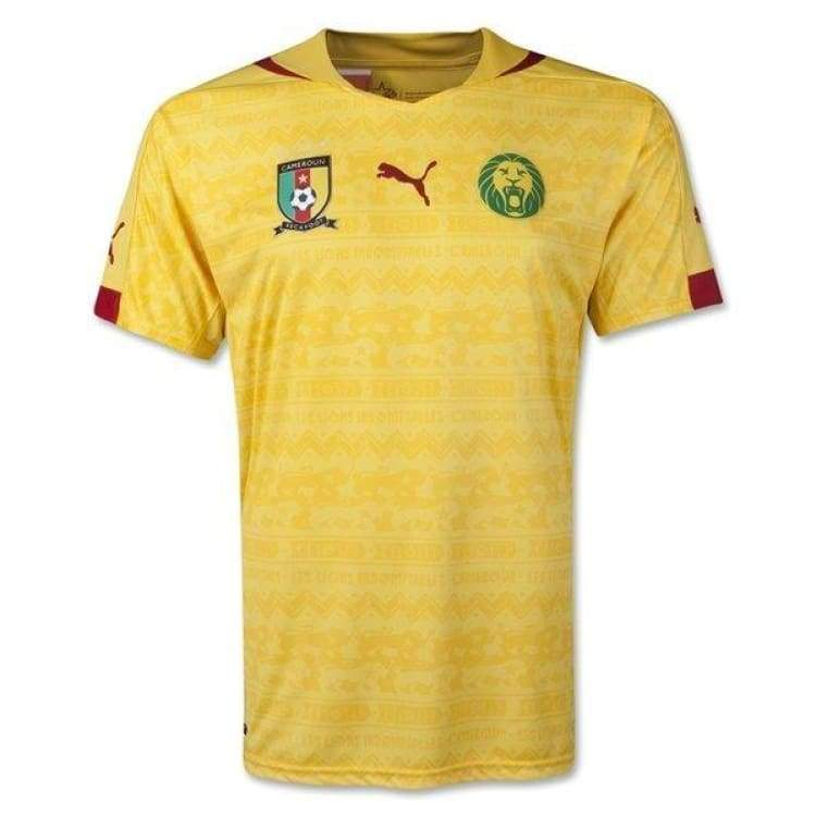 Jerseys / Soccer: Puma National Team 2014 World Cup Cameroon (Away) Jersey 744554-02 - S / Puma / 2014 Away Kit Cameroon Clothing Football |
