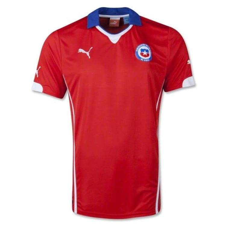 Jerseys / Soccer: Puma National Team 2014 World Cup Chile (Home) S/s Jersey 744501-05 - S / Red / Puma / 2014 Chile Clothing Football Home