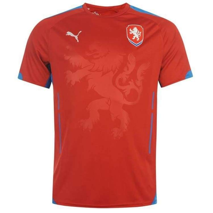 Jerseys / Soccer: Puma National Team 2014 World Cup Czech Republic (H) S/s 744423-01 - Xs / Red / Puma / 2014 Clothing Czech Republic