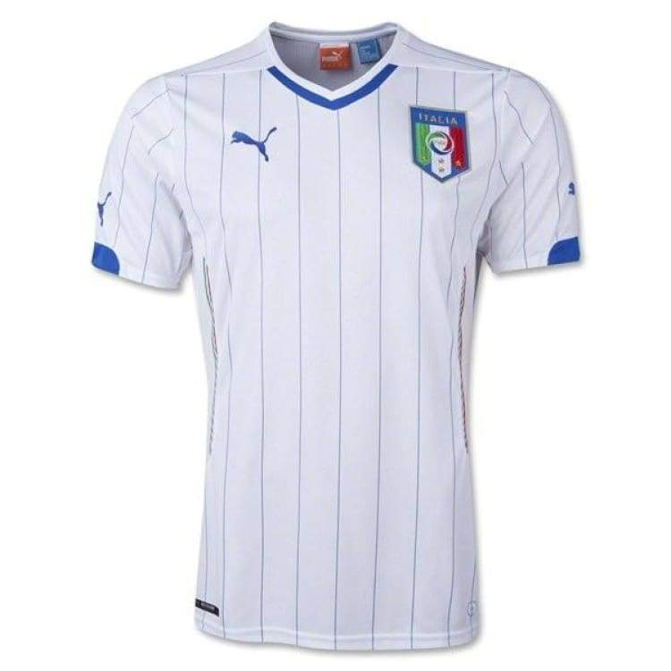 Jerseys / Soccer: Puma National Team 2014 World Cup Italy (Away) S/s 744291-02 - Xs / White / Puma / 2014 Away Kit Clothing Football Italy |