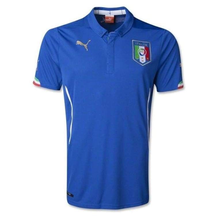 Jerseys / Soccer: Puma National Team 2014 World Cup Italy (H) S/s 744288-01 - Puma / Blank / Xs / 2014 Clothing Football Home Kit Italy |
