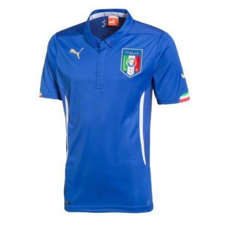 Jerseys / Soccer: Puma National Team 2014 World Cup Italy (Home) Authentic S/s Jersey744287-01 - Puma / M / Blue / 2014 Blue Clothing