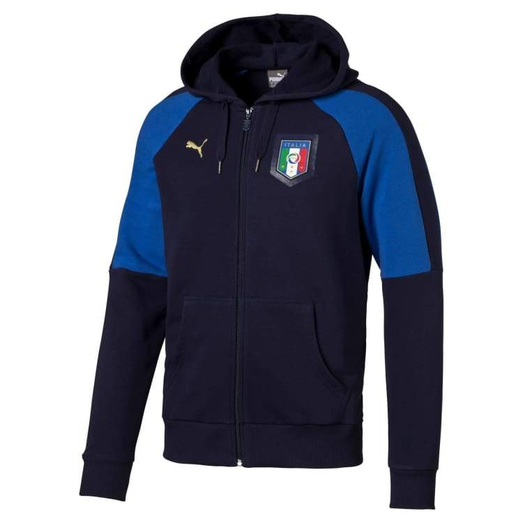 Hoodies & Sweaters: Puma National Team Euro 2016 Italy Tribute 2006-2016 Hoody 749592-05 - Puma / Xs / Blue / 2016 Blue Clothing Fans Wear