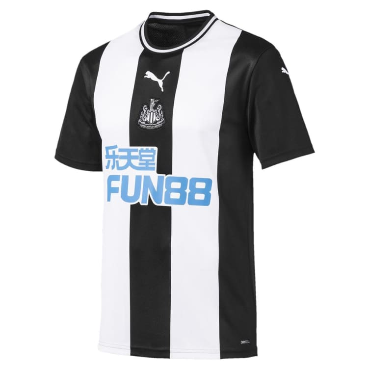 Jerseys / Soccer: Puma Newcastle 19/20 (H) S/S Men's Jersey 756297-01 - 1920, Black/ White, Clothing, Football, Home Kit |