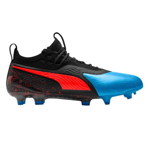 Cleats / Soccer: PUMA ONE 19.1 FG/AG Mens Soccer Cleats 105479 - UK: 6.0 / Blue / Puma / Blue Cleats / Soccer Football Footwear Land |