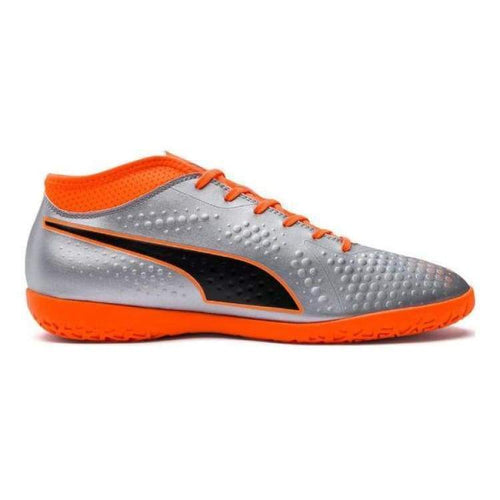 Shoes / Soccer: Puma One 4 Syn It 104750-01 - Puma / Uk: 7.0 / Silver/orange / Football Footwear Land Mens Puma | Ochk-Sfalo-104750-01-1
