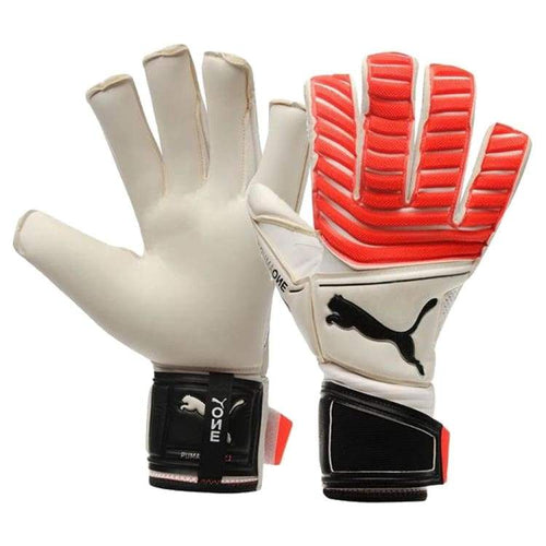 Gloves & Mittens / Soccer: Puma One Grip 17.1 041324-21 - Puma / 7 / White/coral / Accessories Gloves Gloves & Mittens Gloves & Mittens /