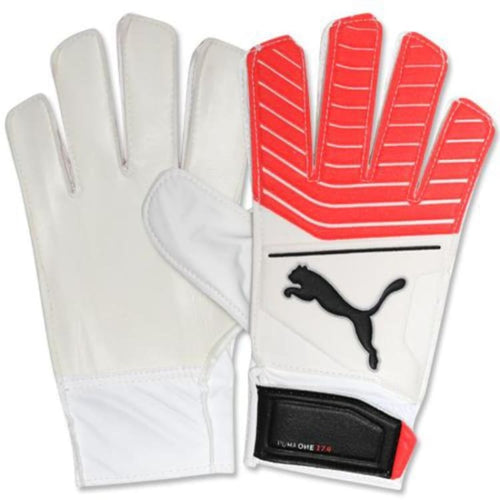 Gloves & Mittens / Soccer: Puma One Grip 17.4 041326-21 - Puma / 7 / White/coral / Accessories Gloves Gloves & Mittens Gloves & Mittens /