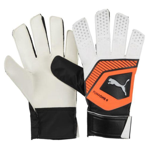 Gloves & Mittens / Soccer: Puma One Grip 4 Goalkeeper Gloves 041476-01 - Puma / 7 / White/orange / Accessories Gloves Gloves & Mittens