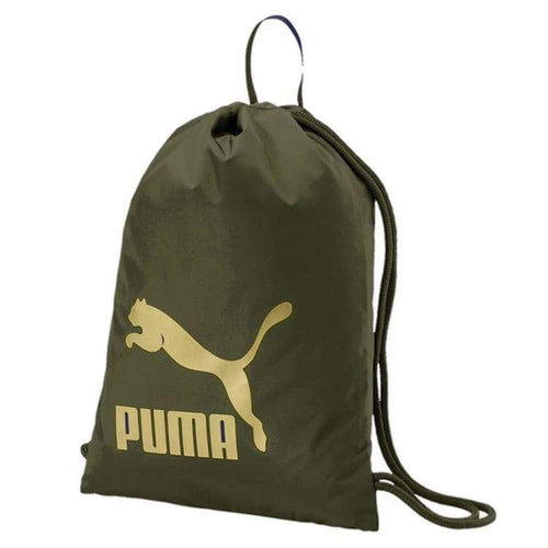 Bags / Sack Pack: Puma Original Gym Sack 074812-10 - Puma / Forest / Accessories Bags / Sack Pack Basketball Fans Wear Fitness & Exercise |