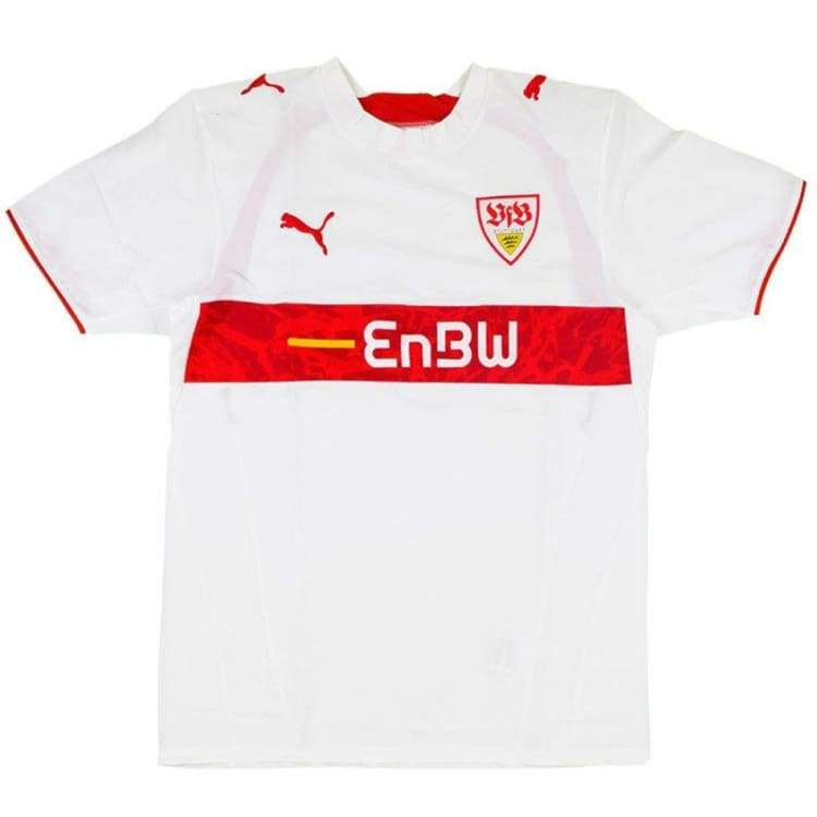 Jerseys / Soccer: Puma Vfb Stuggart 06/07 (H) S/s 732364-01 - Puma / L / White / 0607 Clothing Football Home Kit Jerseys |