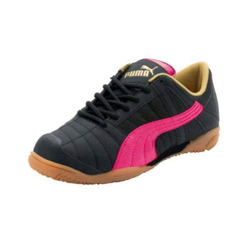 Shoes / Soccer: Puma Vu~Erozu Ii Junior 101058-40 - Puma / Uk: 2.0 / Black/pink / Black/pink Footwear Kids Land On Sale |