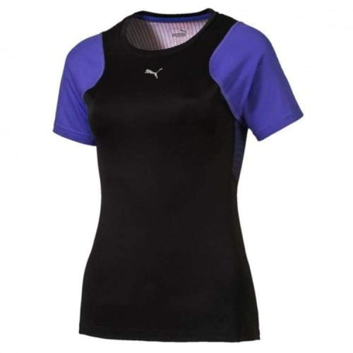 Tees / Short Sleeve: Puma Womens Graphic S/s Tee 514320-03 - Puma / Xs / Purple / Clothing Football Land Puma Purple |