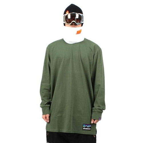 Tees / Long Sleeve: Purplecow Basic Tall Tee - Moss Green - Purplecow / Moss Green / S / Clothing Ice & Snow Mens Moss Green On Sale |