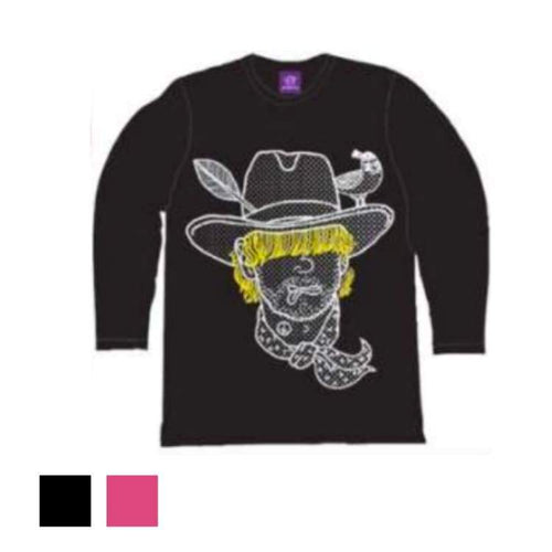 Tees / Long Sleeve: Purplecow Cowboy Tall Tee - 2Color - Black Clothing Ice & Snow Mens On Sale